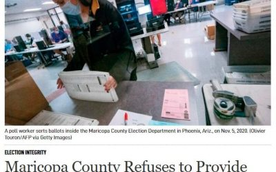 Maricopa County officials refuse to provide routers and passwords to senate auditors–they don't want public to know where data was sent and when it was sent