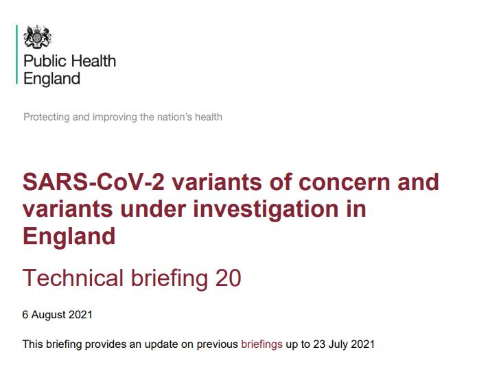 SARS-CoV-2 variants of concern and variants under investigation in England